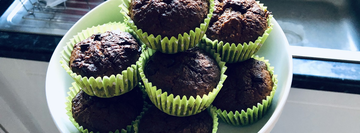 Low Carb Sweet Spice Chocolate Chip Carrot Muffins Cover Image