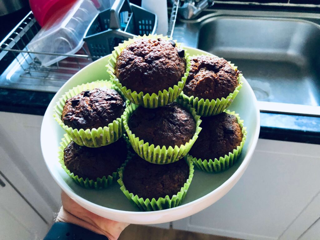 Low Carb Sweet Spice Chocolate Chip Carrot Muffins